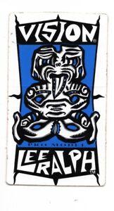 Vtg NOS Vision Streetwear Sticker Decal Lee Ralph Skate Skateboard