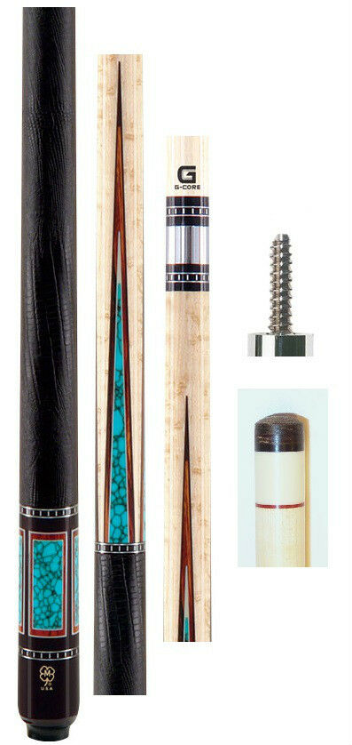 McDermott G607 Cue 12.75mm G Core --Birdseye --Gratis Case  GRATIS US Shipping