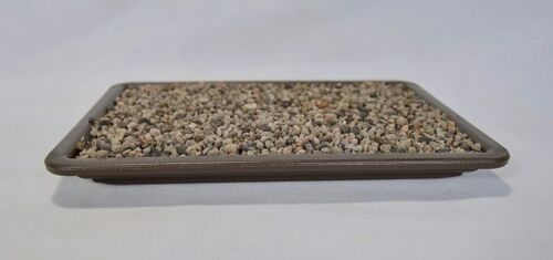 Bonsai Kunststoff Untersetzer 19x12,5 cm Stellfläche braun Unterschale