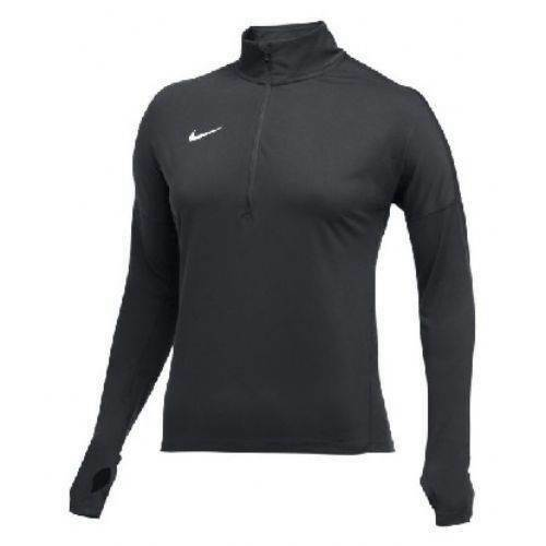 New Nike Dry Element Long Sleeve Half Zip Pullover Women's Medium Grey 897021