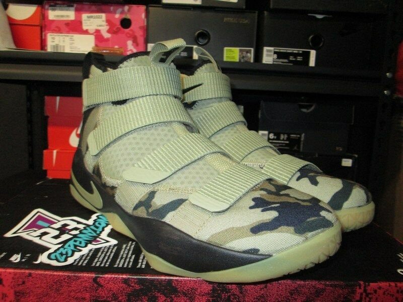 0295027bc744 SALE NIKE LEBRON SOLDIER SOLDIER SOLDIER XI 11 NEUTRAL OLIVE 897644 200 SZ  11 NEW JAMES