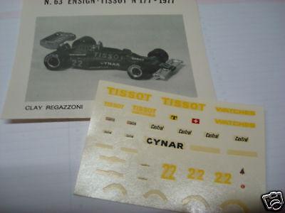 DECALS KIT 1//12 CLAY REGAZZONI F1  MATRA  F1 FDS AUTOMODELLI