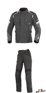 Buese-Motorradkombi-034-Breno-034-in-Schwarz-Grau-Motorrad-Textilkombi-in-Groesse-M-50
