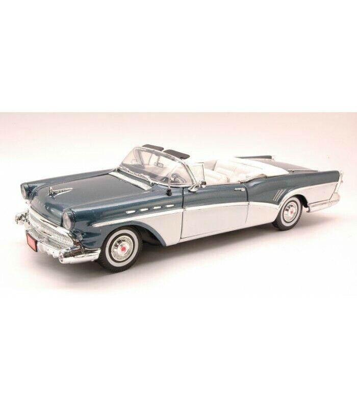 BUICK ROADMASTER 1957 METALLIC Blau Weiß 1 18
