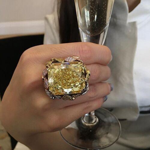 Mode 925 Silber Natürlich Champagner Cirtrine Schmuck Ring cRUWK