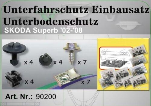 1x für AUDI A5 Unterfahrschutz Einbausatz Unterboden Repair Kit  90200