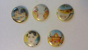 Gerry-the-Cat-80-039-s-artist-buttons-set-vintage-SMALL-BUTTON-set-1