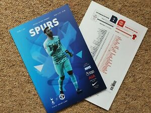 Tottenham-Spurs-v-Manchester-United-LIMITED-PROGRAMME-19-6-20-FREE-UK-POSTAGE