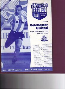 Brentford v Colchester United 199495 Coca Cola Cup 1st round 2nd leg - Letchworth, United Kingdom - Brentford v Colchester United 199495 Coca Cola Cup 1st round 2nd leg - Letchworth, United Kingdom