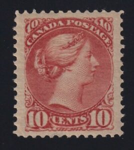 Canada-Sc-45a-1890s-10c-dull-rose-Small-Queen-VF-Mint