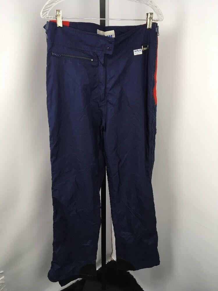 Vintage 90'S MAXIM bluee Red Side Zip Gore-Tex Ski Pants. Sz Large USA MADE Snow