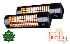 2 Firefly 1.8kW Wall Mounted Patio Heater Electric Garden Winter Garden Outdoor