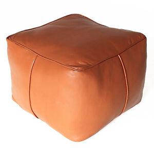 fluide en cuir v ritable coussin de si ge tabouret fait. Black Bedroom Furniture Sets. Home Design Ideas