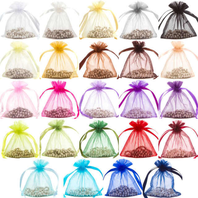 Premium Organza Gift Pouch Wedding Favour Jewellery Bags (Various sizes £)