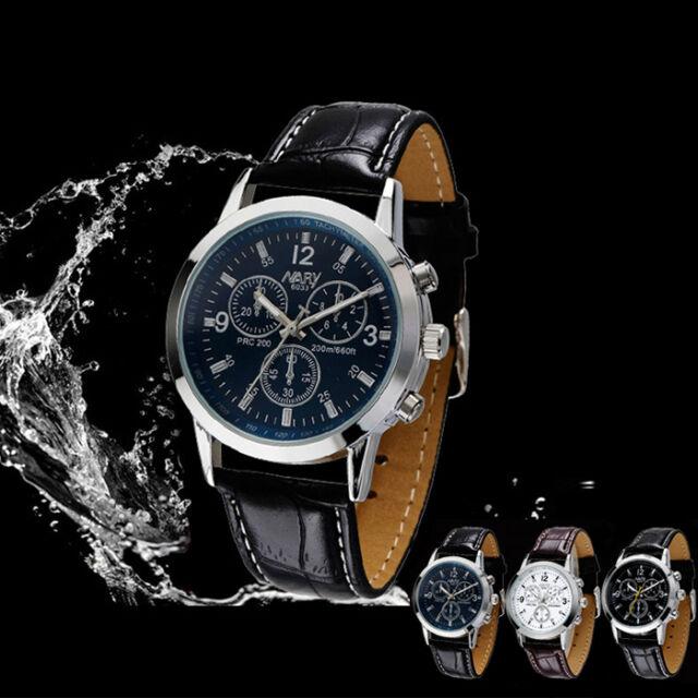 1PC Sport Military Quartz Dial Boy Leather Wrist Watch Round Case Cheap WATCH US