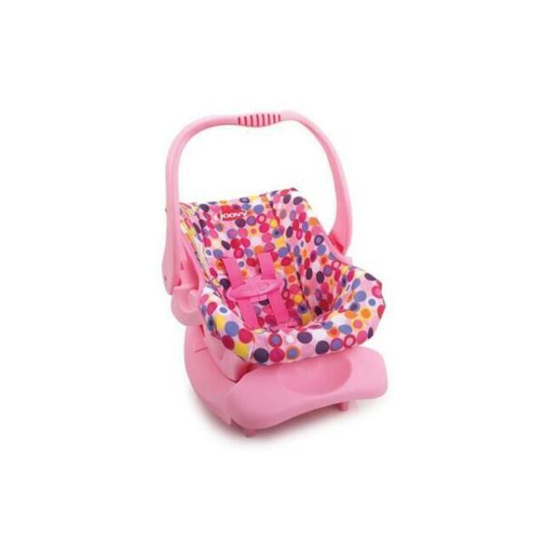 Joovy Doll Toy Car Seat Pink Dot Top, American Girl Car Seat