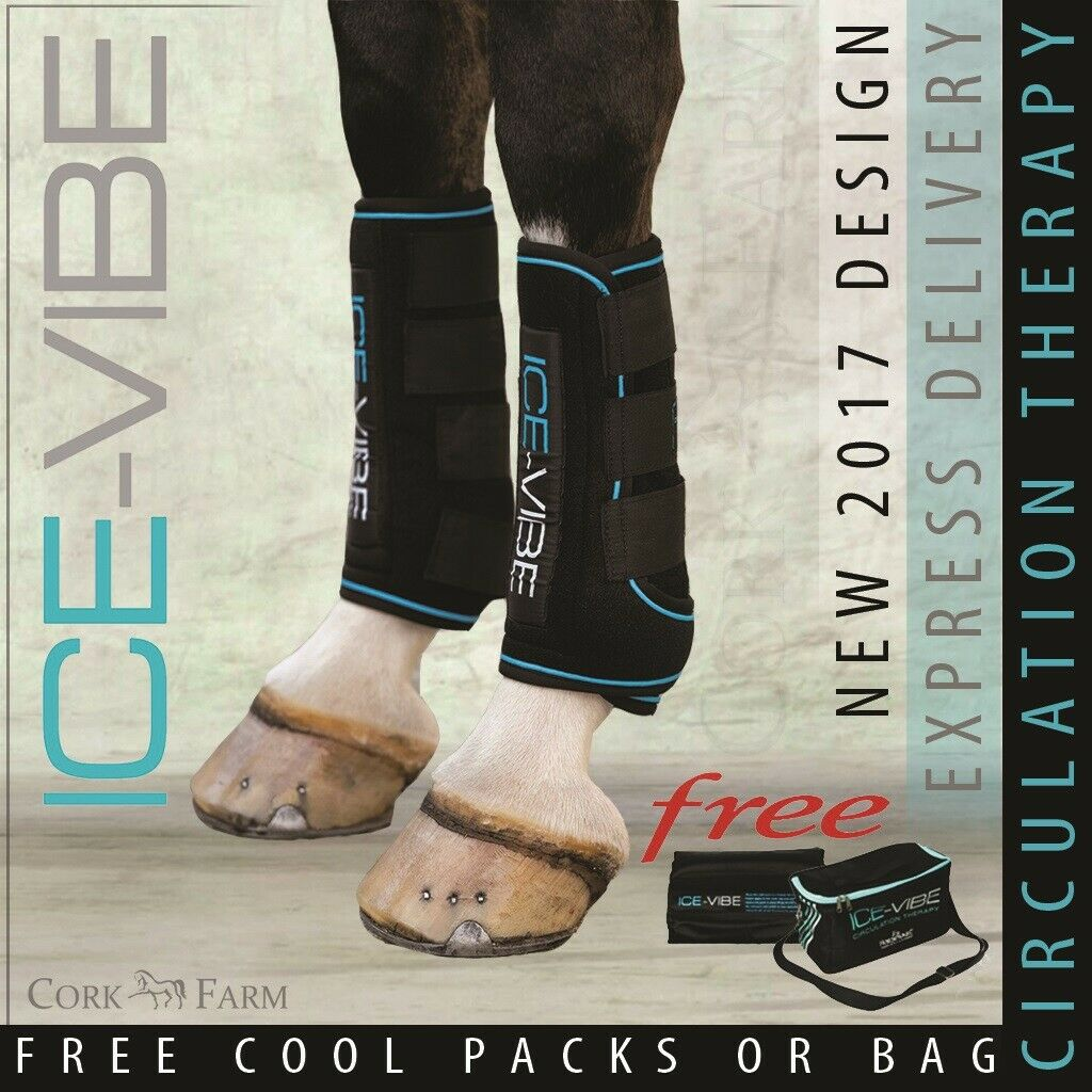 Horseware ICE  VIBE LEG BOOTS Cool Vibrating Circulation Therapy FULL NEW STYLE  free and fast delivery available