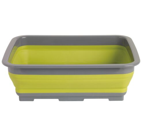Outwell Collaps Washing Up Bowl Green Camping Collapsible Bowl