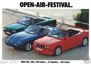 Details About Bmw E30 M3 Bmw Cabrio Range Large Promo Poster Print