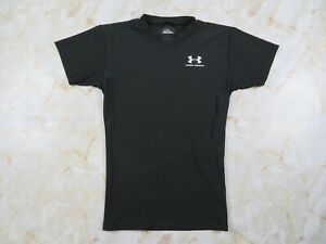 Men-s-Under-Armour-HeatGear-Short-Sleeve-Compression-Shirt-Black-Size-Medium