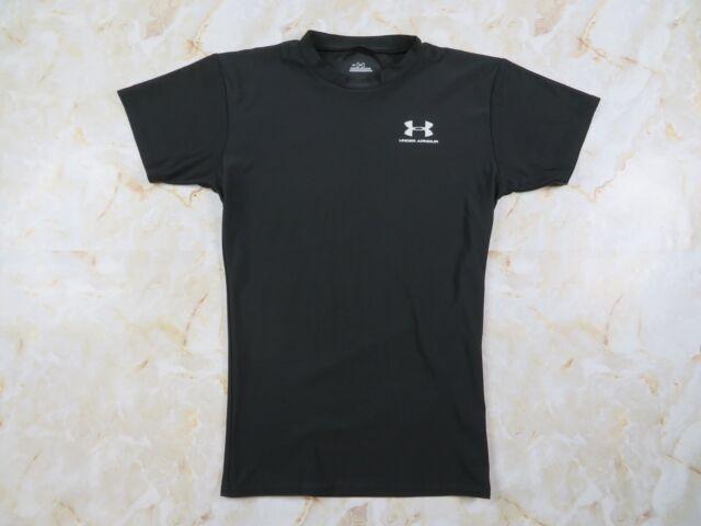 Men's Under Armour HeatGear Short Sleeve Compression Shirt Black Size Medium