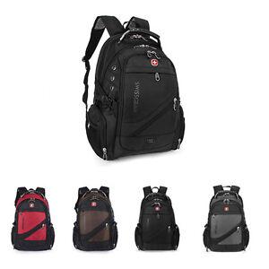 Fashion Men Women Multifunction Swiss Laptop Backpack Computer School Travel Bag