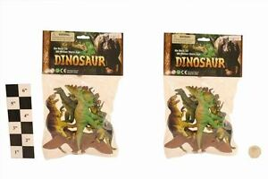 M.Y Dinosaur Toy Animals Figure Plastic Play Set For Learning & Awareness - 6PCS