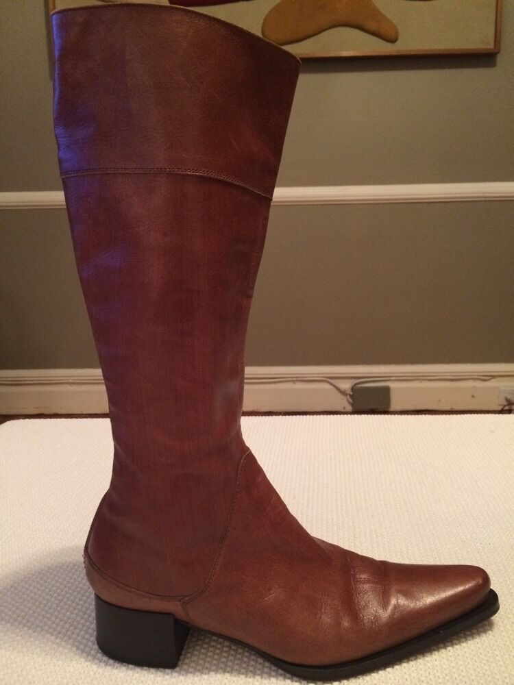 Women's VIC MATIE Tall Brown Leather Leather Leather Boots Size Euro 40 US Fits 9-91 2 54765a