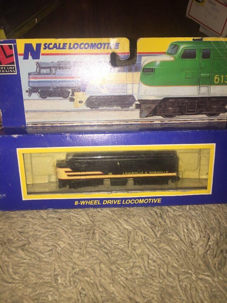 Life-Like N Scale Locomotive 8 wheel drive drive drive Rare Louisville & Nashville 7936 623593