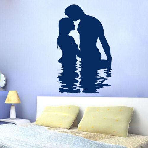 Wall Decals Family Vinyl Sticker Man Woman Love in Water Bedroom Decor Art m620