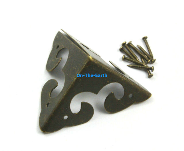 40 Pieces 31mm Antique Brass Jewelry Box Corner Gift Box Corner Protector (B)