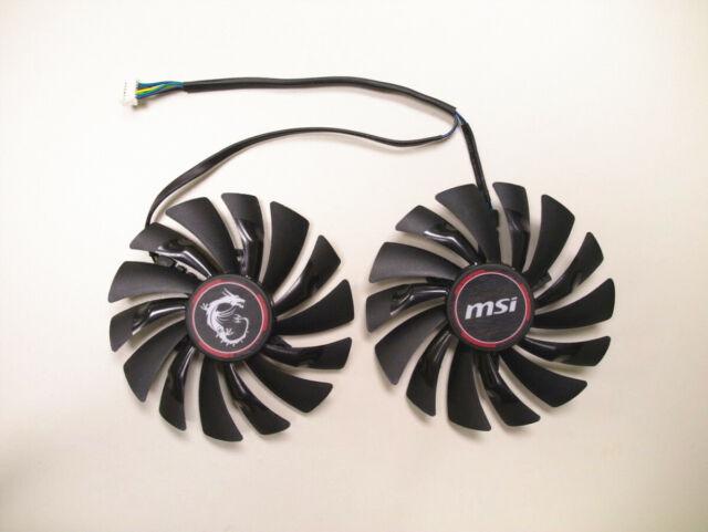 95mm MSI GTX950/960/970 R9 390X/380 GAMING Dual Fan PLD10010S12HH 4Pin 12V  0 40A