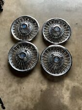 65 66 Ford Mustang Wire Wheel Hub Caps 14 Set