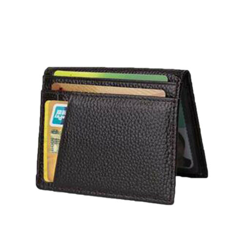 Men/'s Genuine Leather Slim Wallet Thin Credit Card Holder ID Case Purse Bags HOT