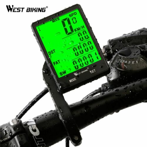 """WEST BIKING 2.8/"""" Large Screen Bicycle Computer Wireless and wired Rainproof"""