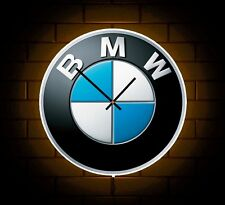 BMW BADGE LED LIGHT UP WALL LIGHT NOVELTY CLOCK MAN CAVE MECHANICS GARAGE M3 M5
