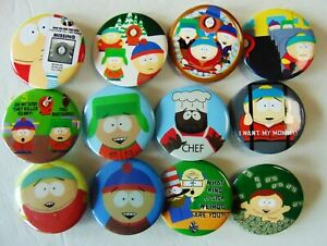 12-South-Park-Pin-Back-Buttons-Want-Mommy-Weirdo-Missing-very-nice
