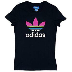 Turquoise Tee Sport T Adi Violet Originals Trefoil FemmeBleu Adidas shirt mNnwv80O