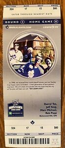 2002 Leafs Playoff Game 7 win over NY Jim McKenny autograph Leafs win series 4-2