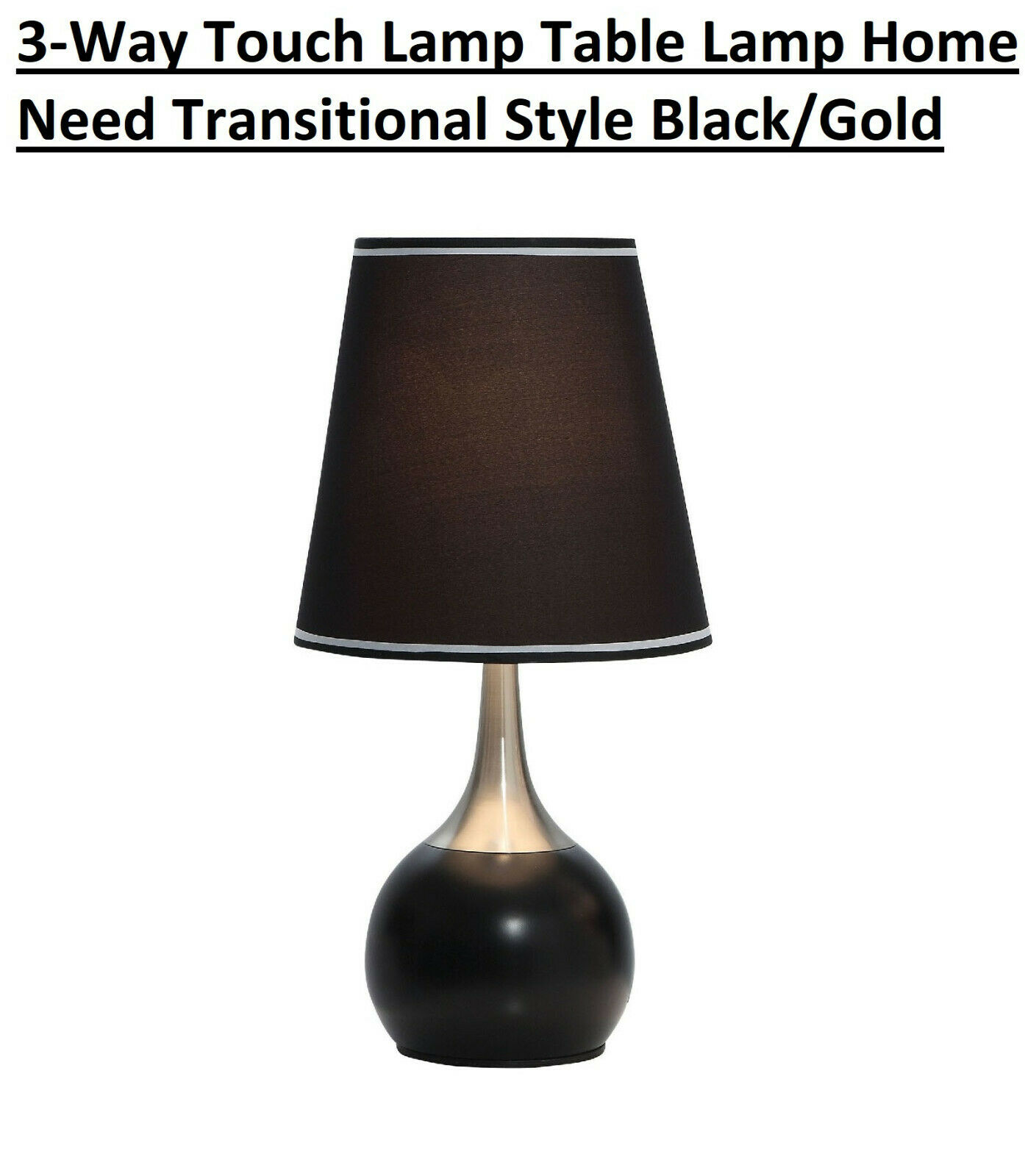3-Way Touch Lamp Table Lamp Home Need Transitional Style