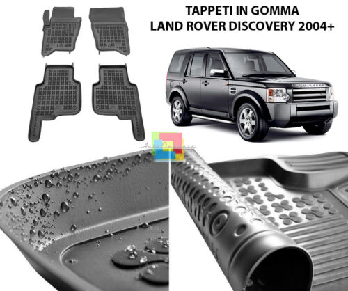 1 TAPPETI TOP QUALITA LAND ROVER DISCOVERY 3 4 TAPPETINI AUTO IN GOMMA
