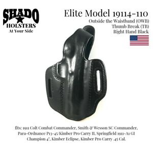 SHADO-Leather-Holster-USA-Elite-Model-19114-110-Right-Hand-Black-OWB-TB-1911
