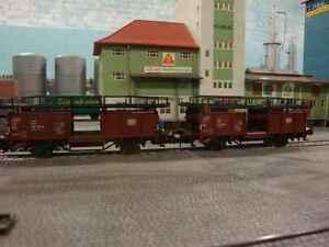Autotransportwagen-2-Stueck-im-Set-von-Rivarossi