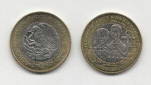 Mexico-2014-20-Pesos-Bi-Metallic-Centenary-Defense-Veracruz-Port-KM-978-UNC