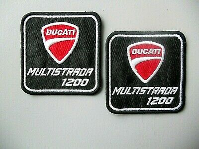 DUCATI MULTISTRADA 1200 ROSSO PATCH RICAMATO TERMOADESIVO CM.6X6