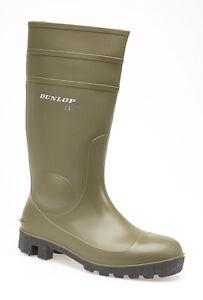 Dunlop Protom FS Safety Green Steel Toe Cap Mens Boys Wellington Boots UK3-13