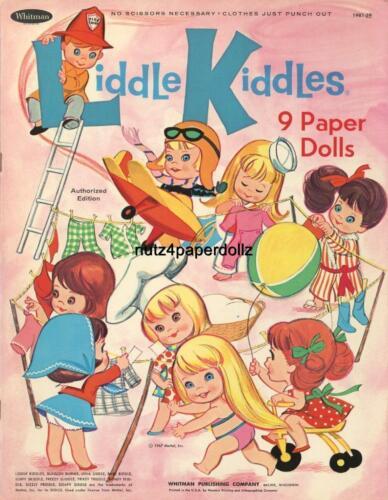 VINTAGE 1967 LIDDLE KIDDLES PAPER DOLLS ~WHITMAN~RARE UNCUT LASER REPRODCTION