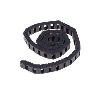 Black Plastic Drag Chain Cable Carrier 10 x 15mm for CNC Router Mill G~
