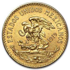 1919-Mexico-Gold-20-Pesos-AU-SKU-29095