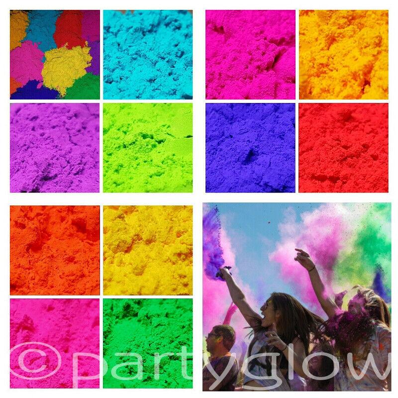 100 x 100g Holi Powder Colour Run Festival Throwing Powder Paint Parties 10Kg